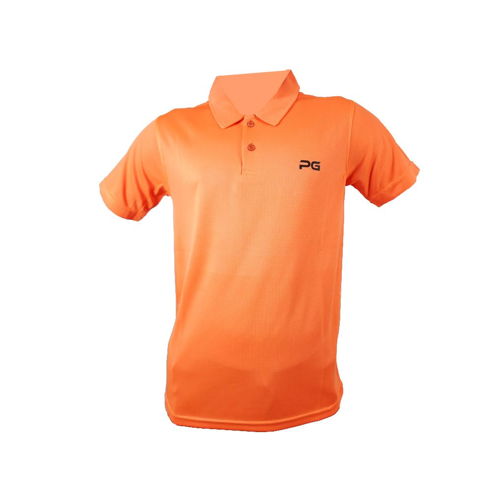 پولوشرت ورزشی مردانه پرگان مدل آرا رنگ نارنجی
