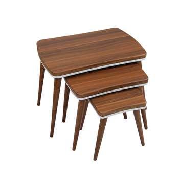 میز عسلی ویانا مدل کلاسیک کد 118GH مجموعه 3 عددی