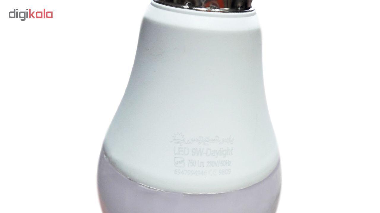 لامپ ال ای دی 9 وات پارس شعاع توس پایه E27 بسته 10عددی main 1 4