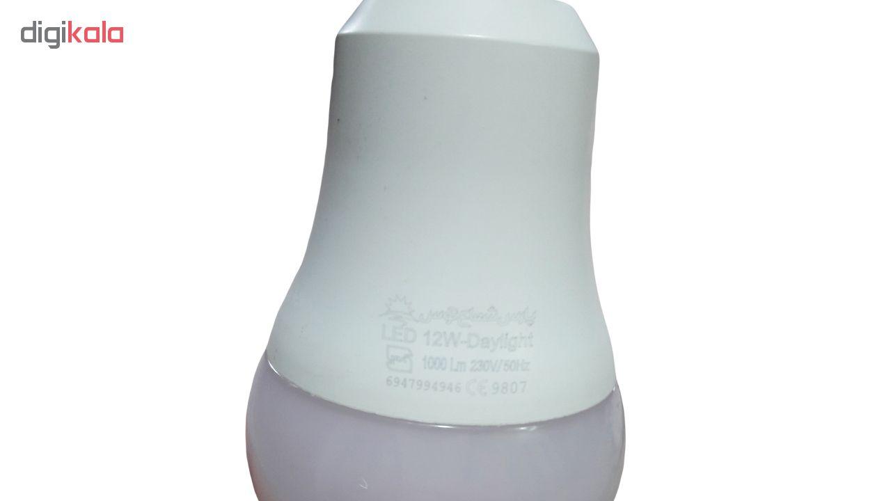 لامپ ال ای دی 12 وات پارس شعاع توس پایه E27 بسته 5 عددی main 1 4