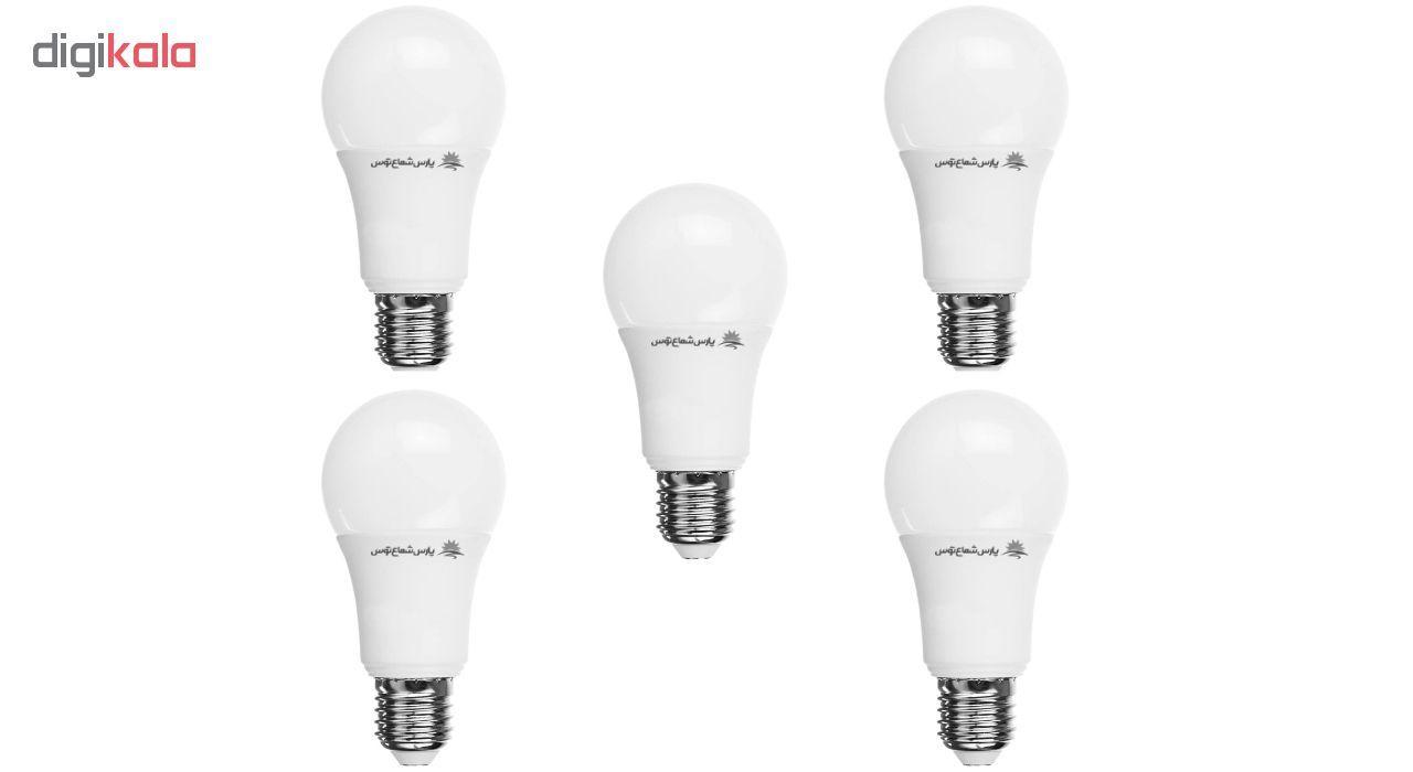 لامپ ال ای دی 12 وات پارس شعاع توس پایه E27 بسته 5 عددی main 1 1