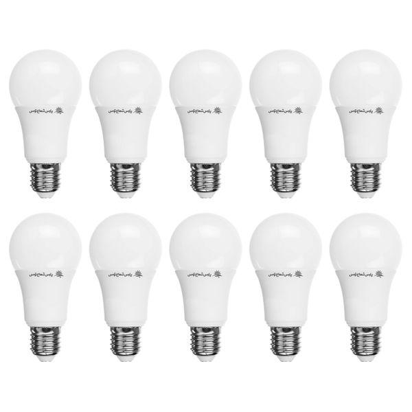 لامپ ال ای دی 12وات پارس شعاع توس پایه E27 بسته 10 عددی