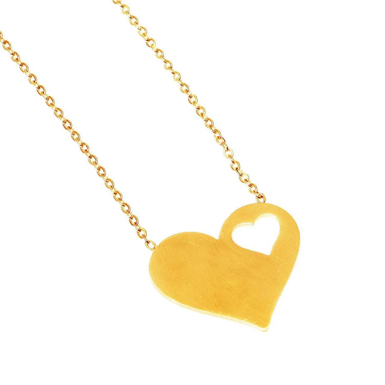 قیمت گردنبند شیک کده طرح قلب کد 1024