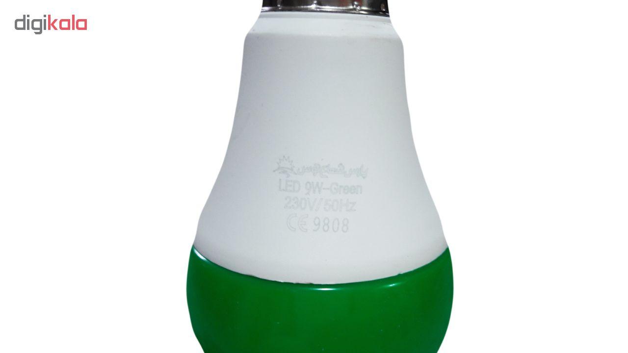 لامپ ال ای دی 9 وات پارس شعاع توس پایه E27 main 1 6