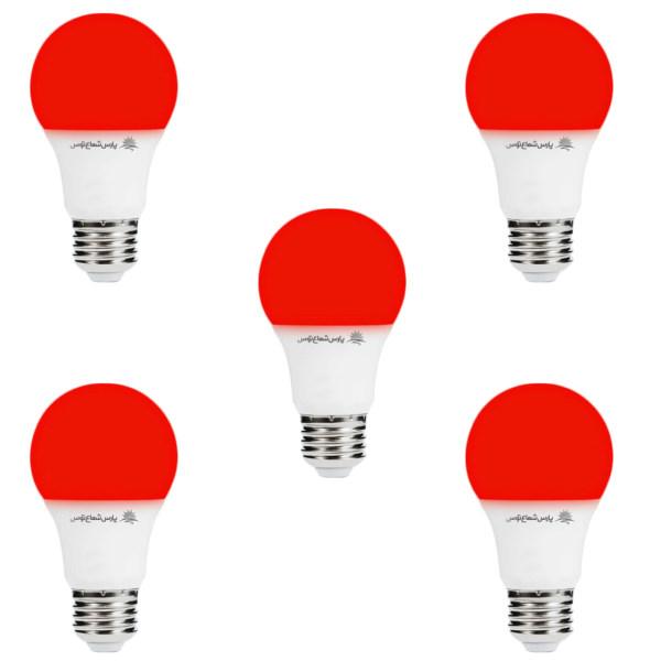 لامپ ال ای دی 9 وات پارس شعاع توس پایه E27 بسته 5 عددی
