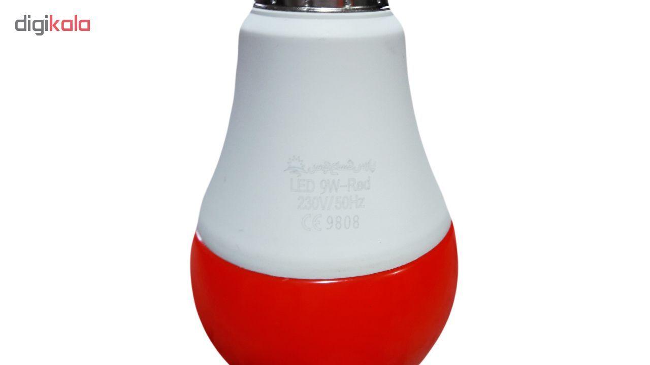 لامپ ال ای دی 9 وات پارس شعاع توس پایه E27 بسته 5 عددی main 1 7