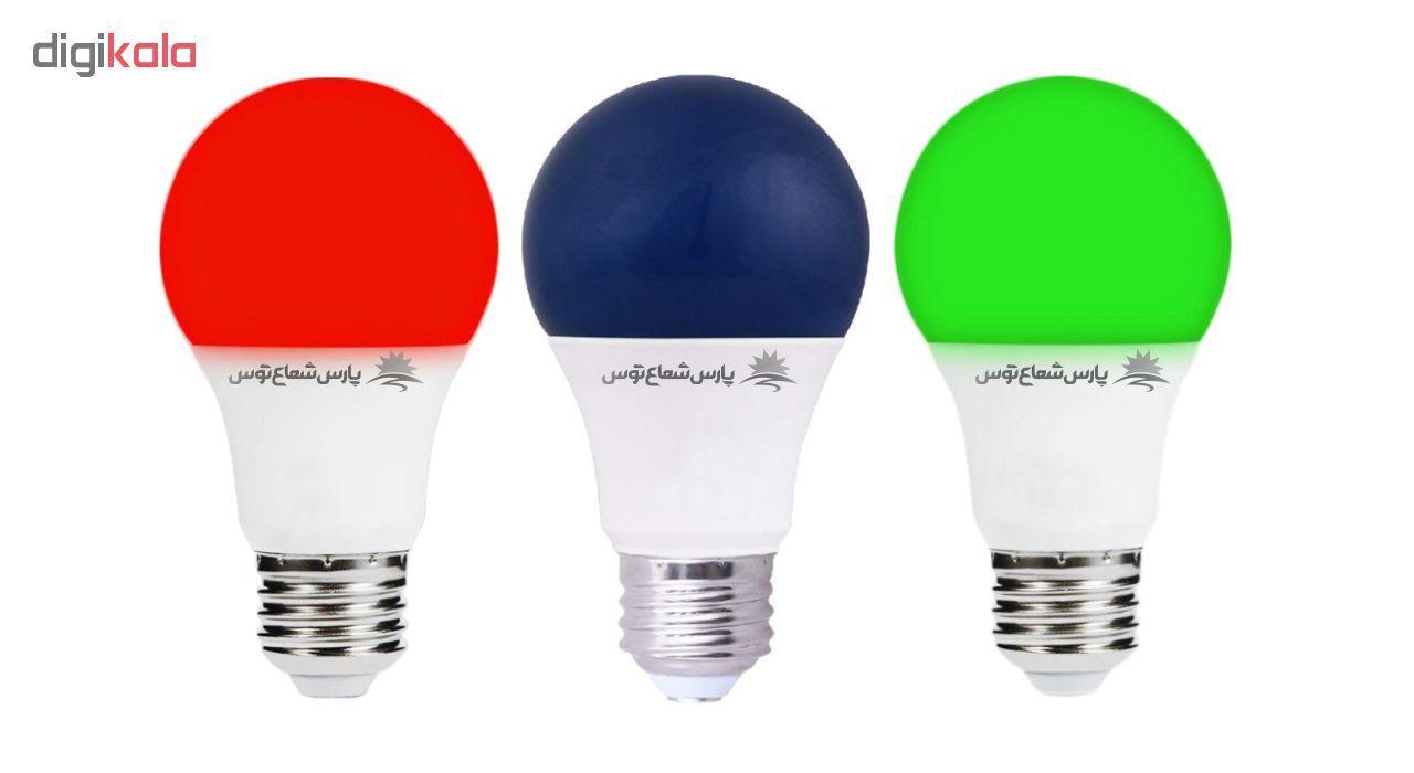 لامپ ال ای دی 9 وات پارس شعاع توس پایه E27 بسته 5 عددی main 1 10