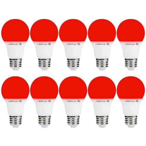 لامپ ال ای دی 9 وات پارس شعاع توس پایه E27 بسته 10 عددی