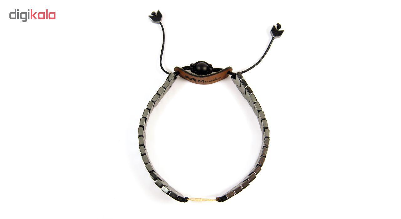 دستبند طلا 18عیار مانچو مدل bfg052
