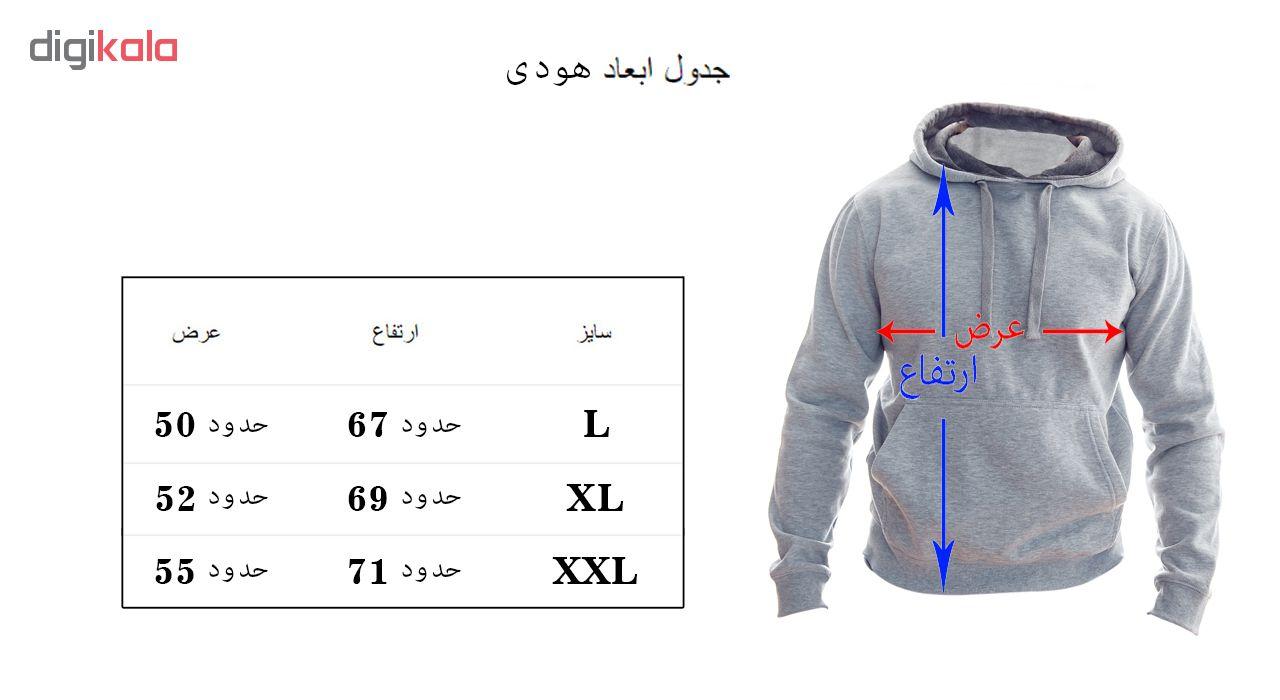 هودی مردانه به رسم طرح عینک کد 131 main 1 3