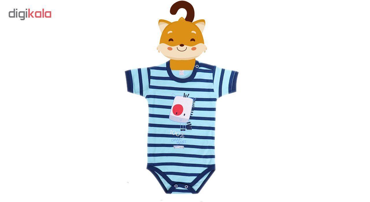 آویز لباس کودک جیک جیک طرح جنگل مجموعه 2 عددی