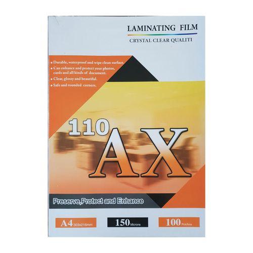 طلق پرس آ ایکس 110 براق مدل 150 میکرون سایز A4 بسته 100 عددی