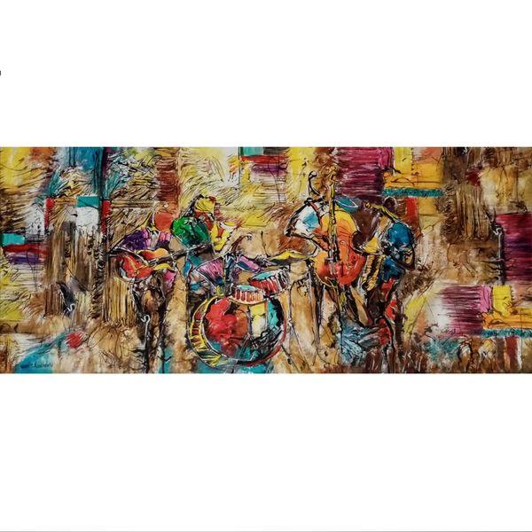 تابلو نقاشی رنگ روغن مدل نوازندگان کد Nh-tp-01