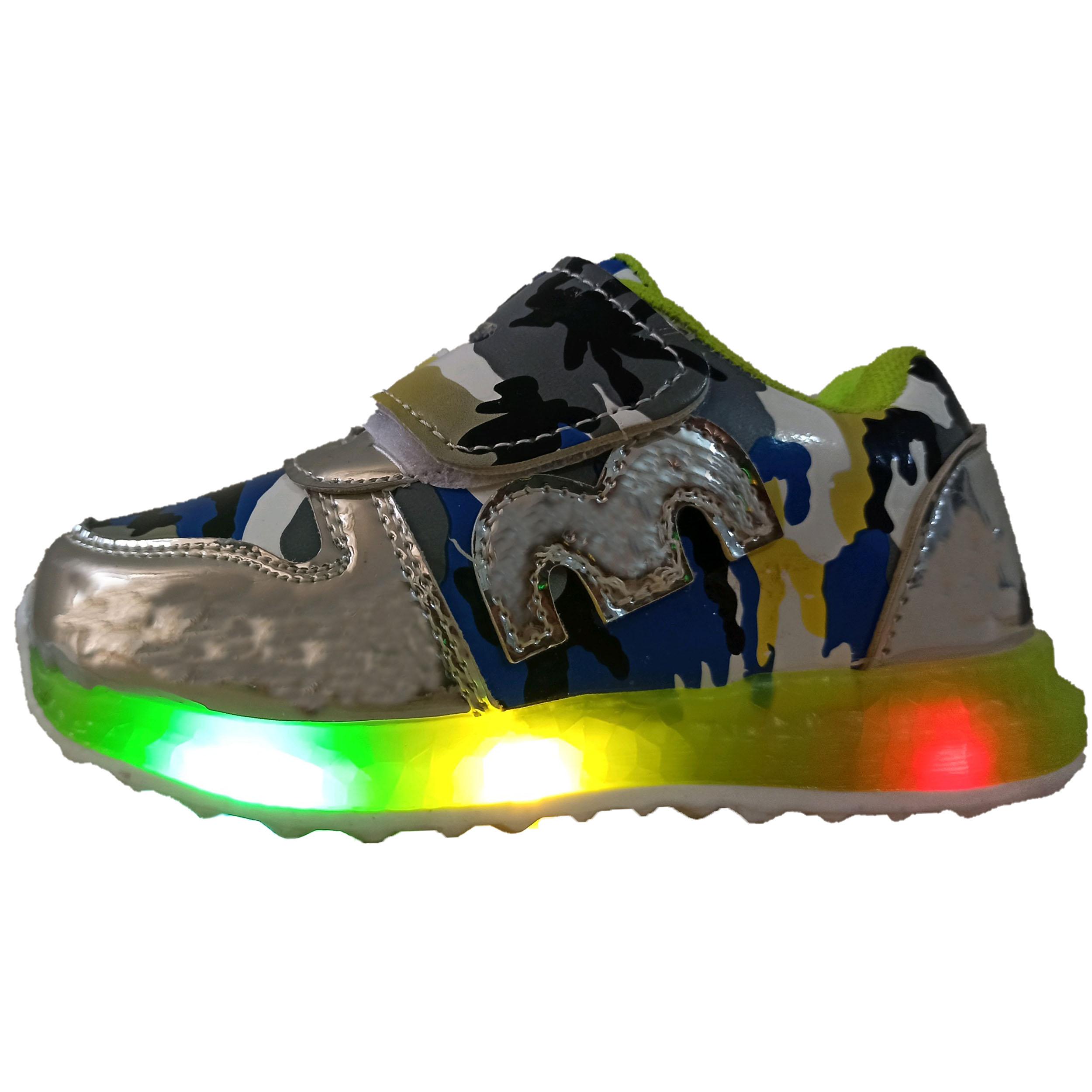 کفش مخصوص دویدن پسرانهچراغدار مدل 024