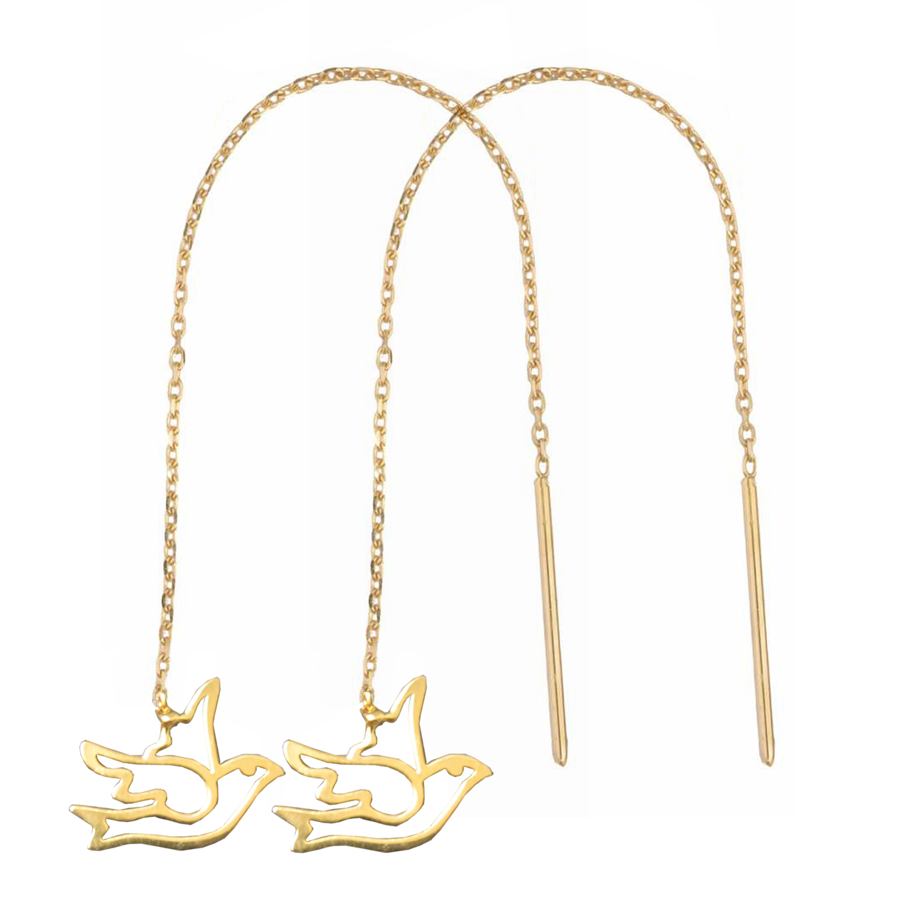 قیمت گوشواره طلا 18 عیار نازنین کد GR503