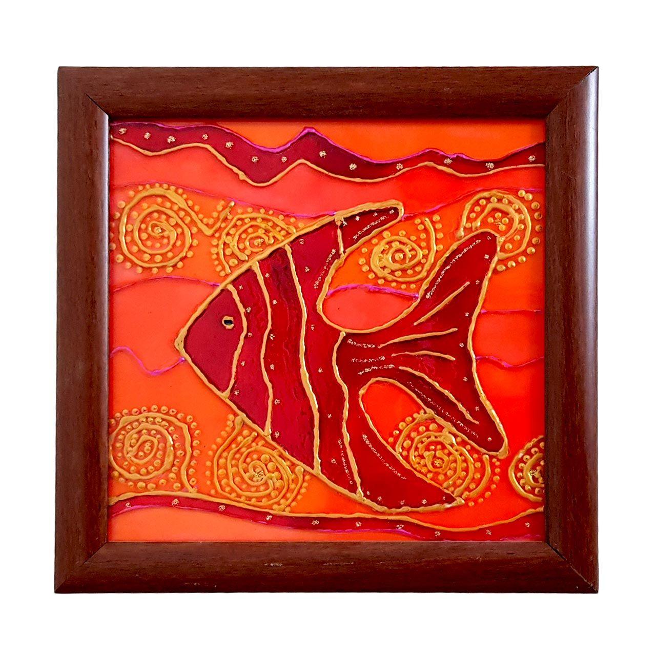 تابلو نقاش ویترای طرح ماهی