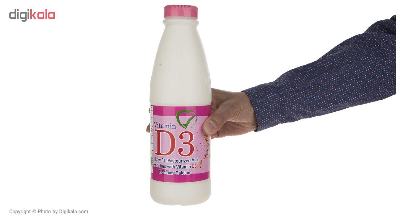 شیر پاستوریزه کم چرب غنی شده دامداران - 946 میلی لیتر