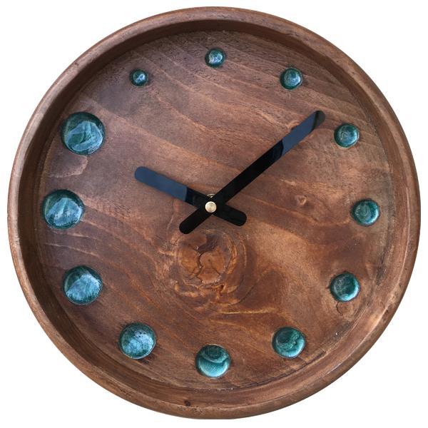خرید ساعت دیواری چوبی کد 6