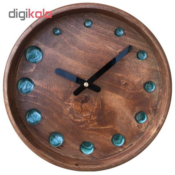 ساعت دیواری چوبی کد 6