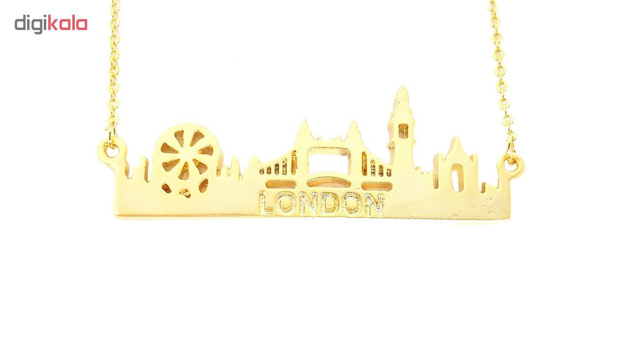 گردنبند نایس لند طرح شهر لندن مدل N38
