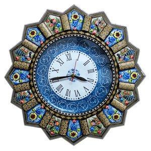 ساعت دیواری خاتم کاری گالری دست نگار مدل خورشیدی کد 02-28