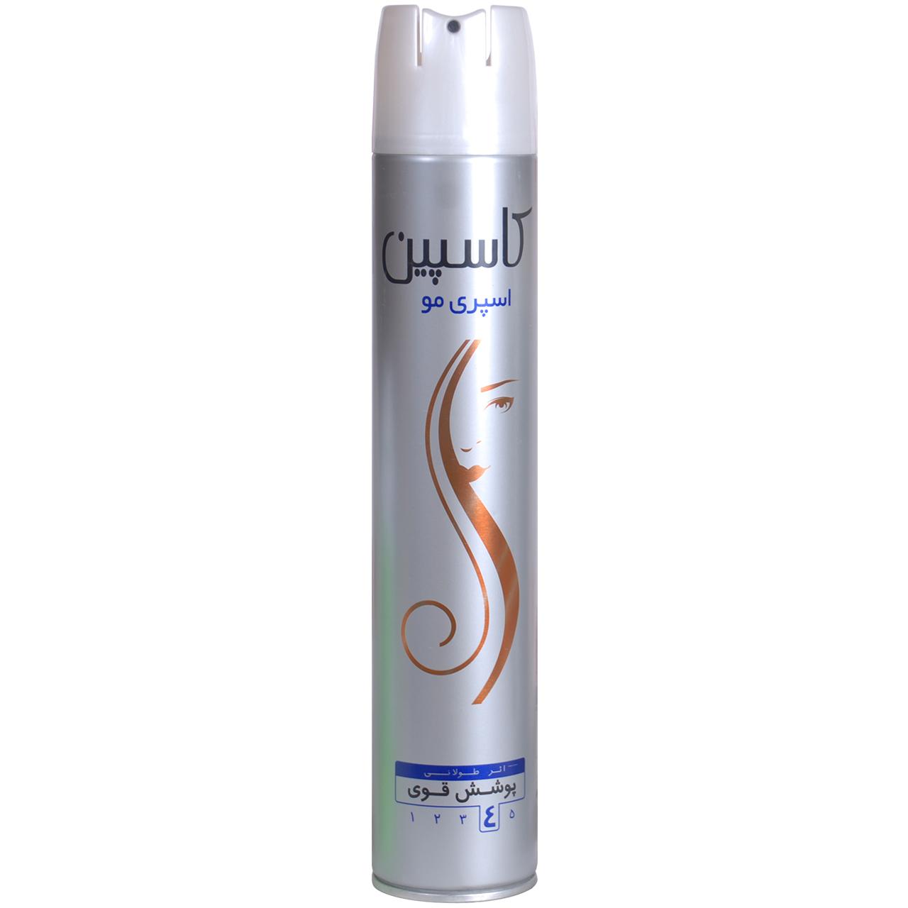 اسپری حالت دهنده مو کاسپین مدل Hair Spray حجم 500 میلی لیتر