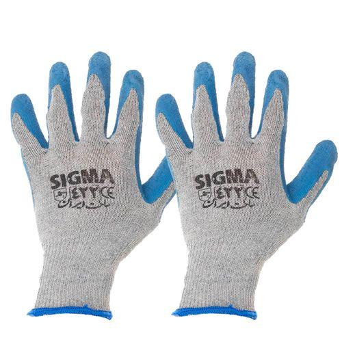 دستکش ایمنی ضدبرش قوی کف چروک سیگما مدل 422 بسته 2 عددی