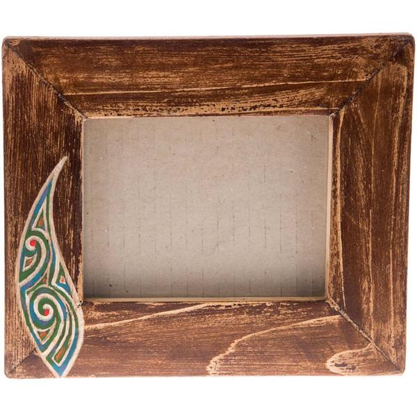 قاب عکس چوبی گالری اشکان نقش 9 سایز 12 × 9 سانتی متر