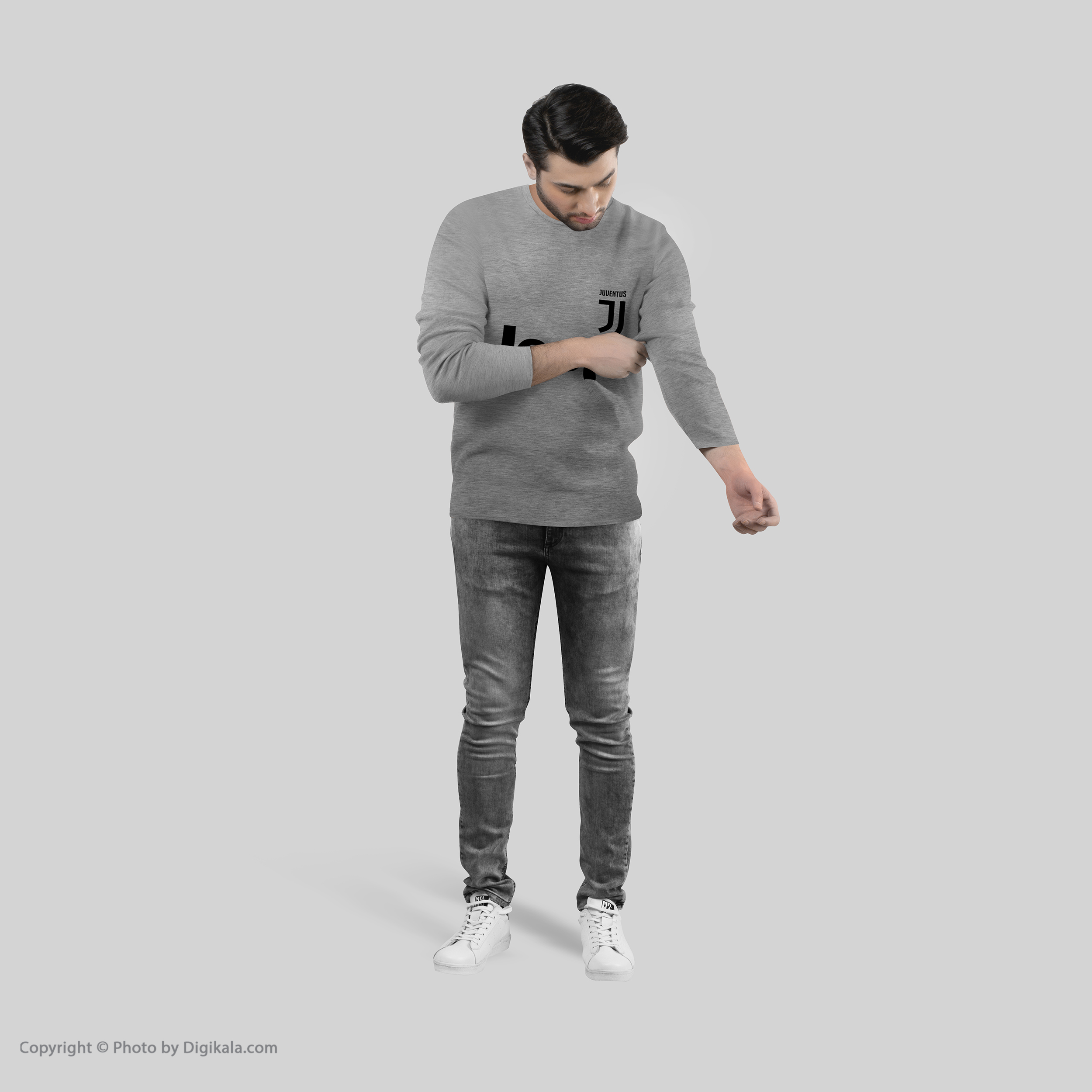تی شرت آستین بلند مردانه طرح یوونتوس مدل S272