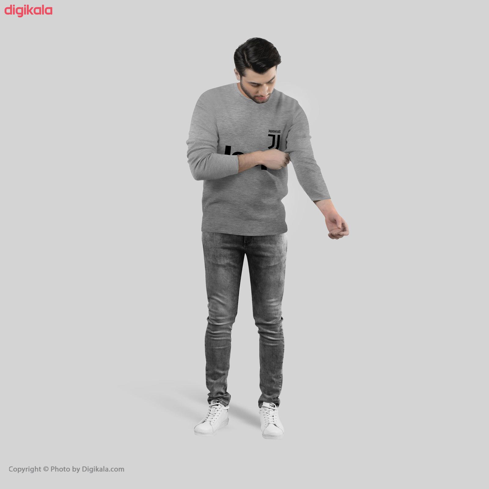 تی شرت آستین بلند مردانه طرح یوونتوس مدل S272 main 1 2
