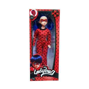 عروسک مدل دختر کفشدوزکی کد tm02 ارتفاع 28 سانتی متر