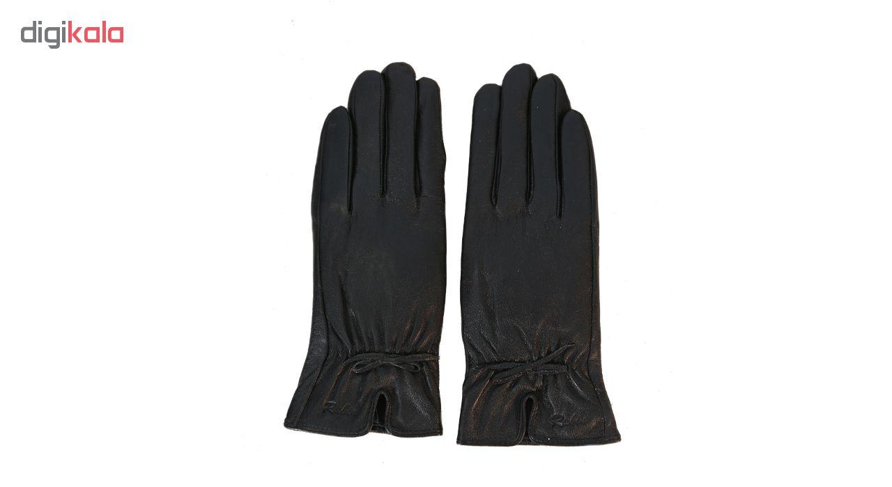 دستکش زنانه چرم طبیعی کد 102