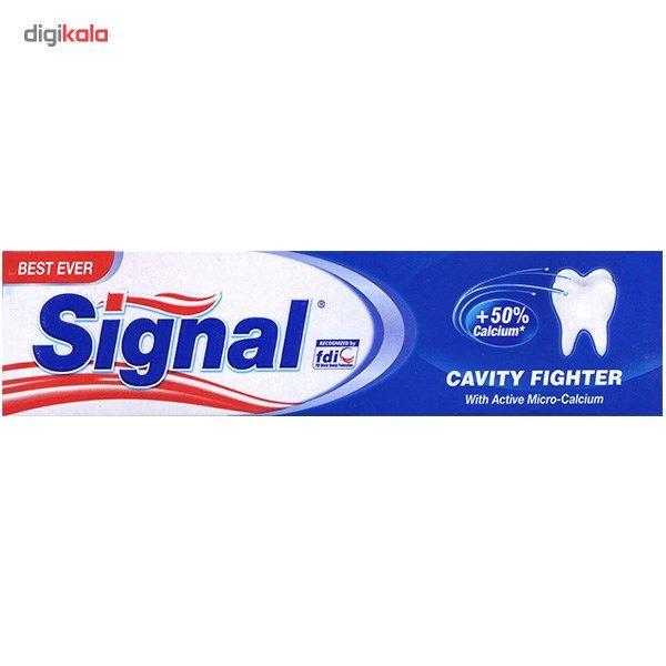 خمیر دندان سیگنال مدل Cavity Fighter حجم 100 میلی لیتر  Signal Cavity Fighter 100ml Toothpaste