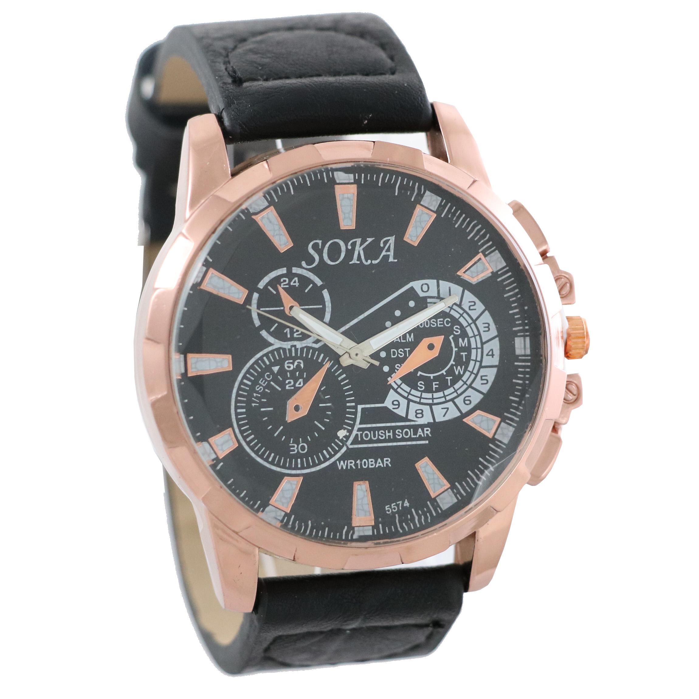 ساعت مچی عقربهای مردانه سوکا مدل MW512
