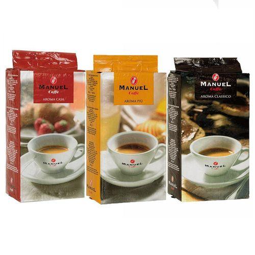 قهوه آسیاب مانوئل کافه مدل aroma بسته 3 عددی