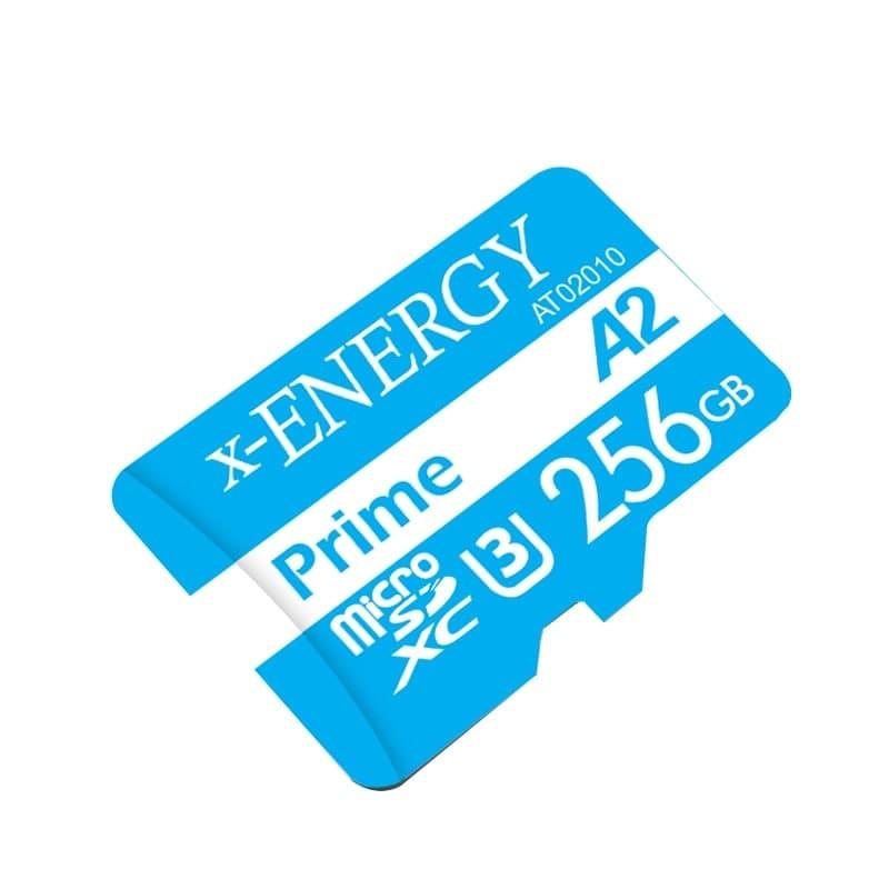کارت حافظه microSDXC ایکس انرژی مدل Prime کلاس A2 استاندارد UHS-I U3 سرعت 80MBps ظرفیت 256 گیگابایت به همراه آداپتور SD
