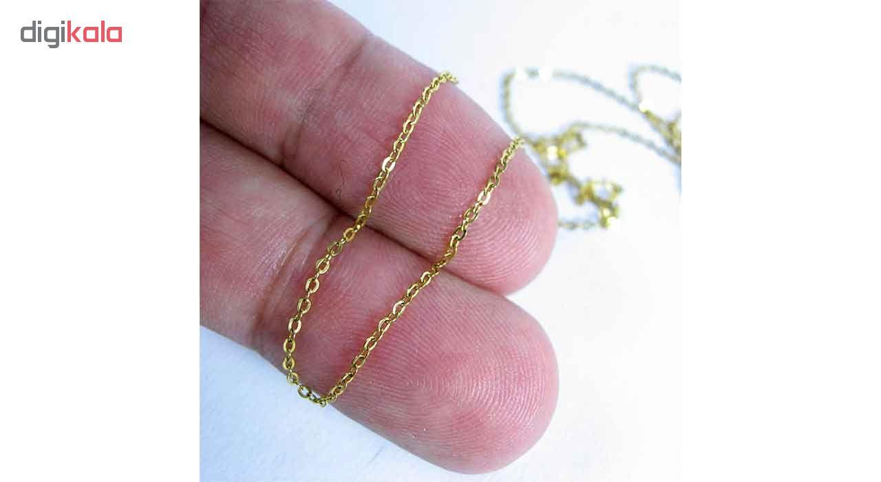 زنجیر طلا 18 عیار نازنین کد T4801