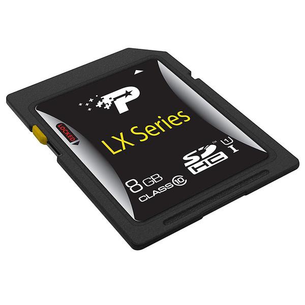 کارت حافظه SD HC پتریوت مدل  LX SERIES استاندارد UHS-I U1 کلاس 10ظرفیت 8 گیگابایت