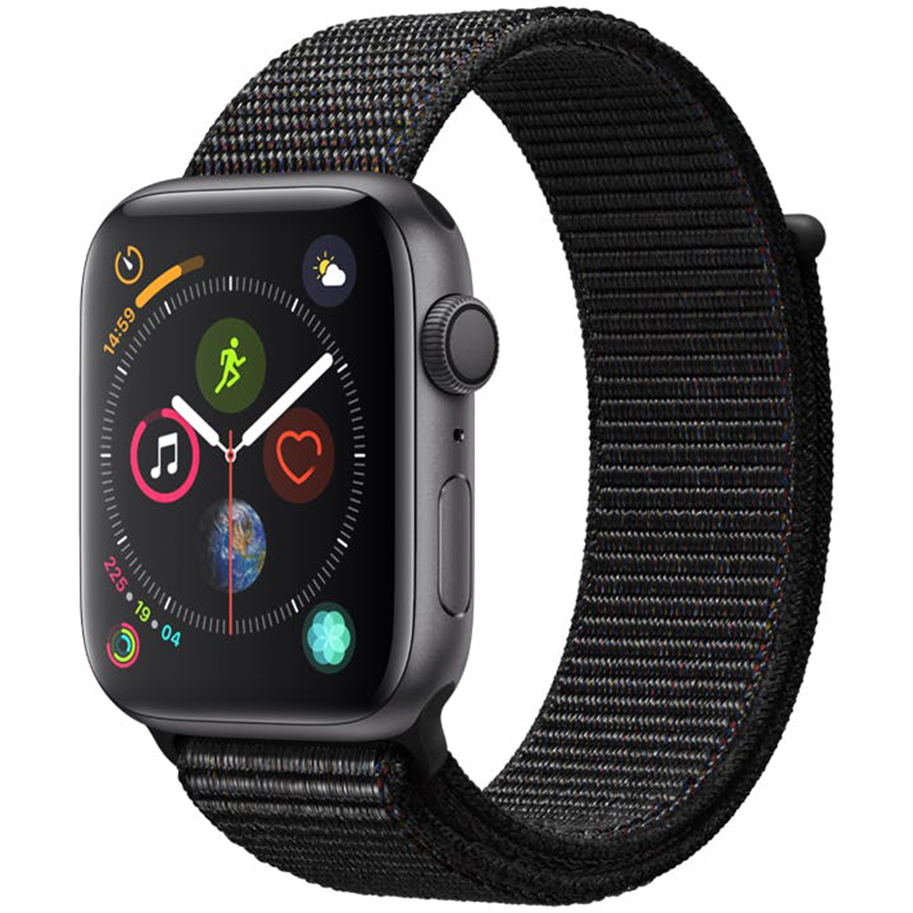 ساعت هوشمند اپل واچ سری 4 مدل 44mm Space Gray Aluminum Case With Black Sport Loop