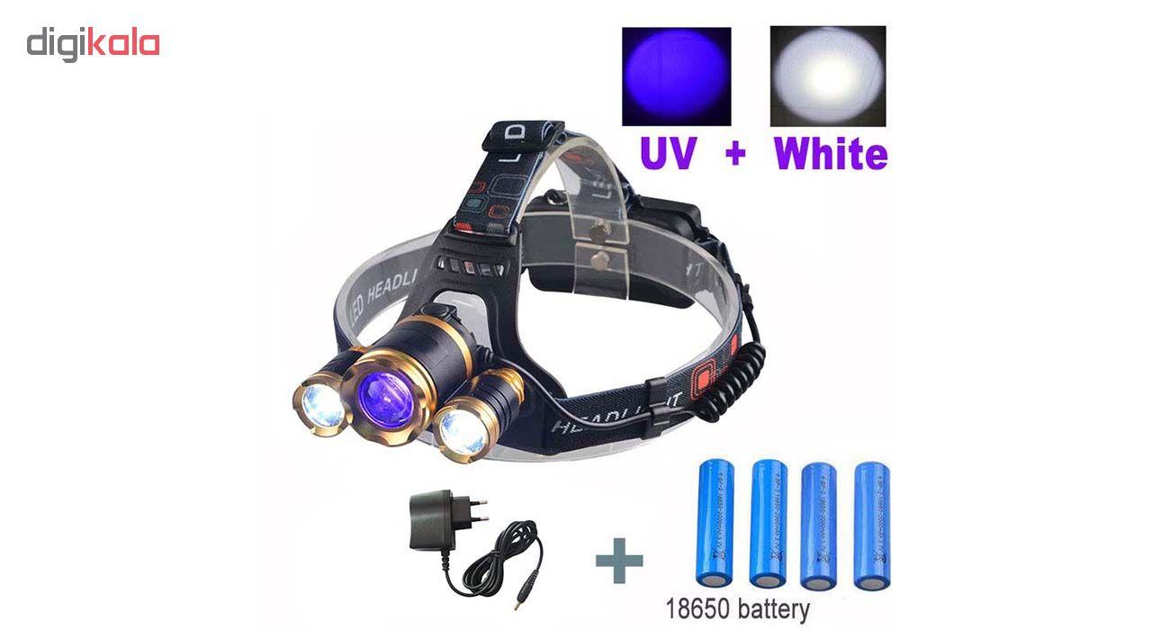 چراغ قوه پيشاني UV فليكسبل مدل blacklight