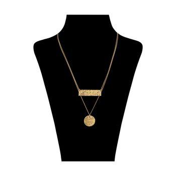 گردنبند طلا 18 عیار زنانه سنجاق مدل X077574