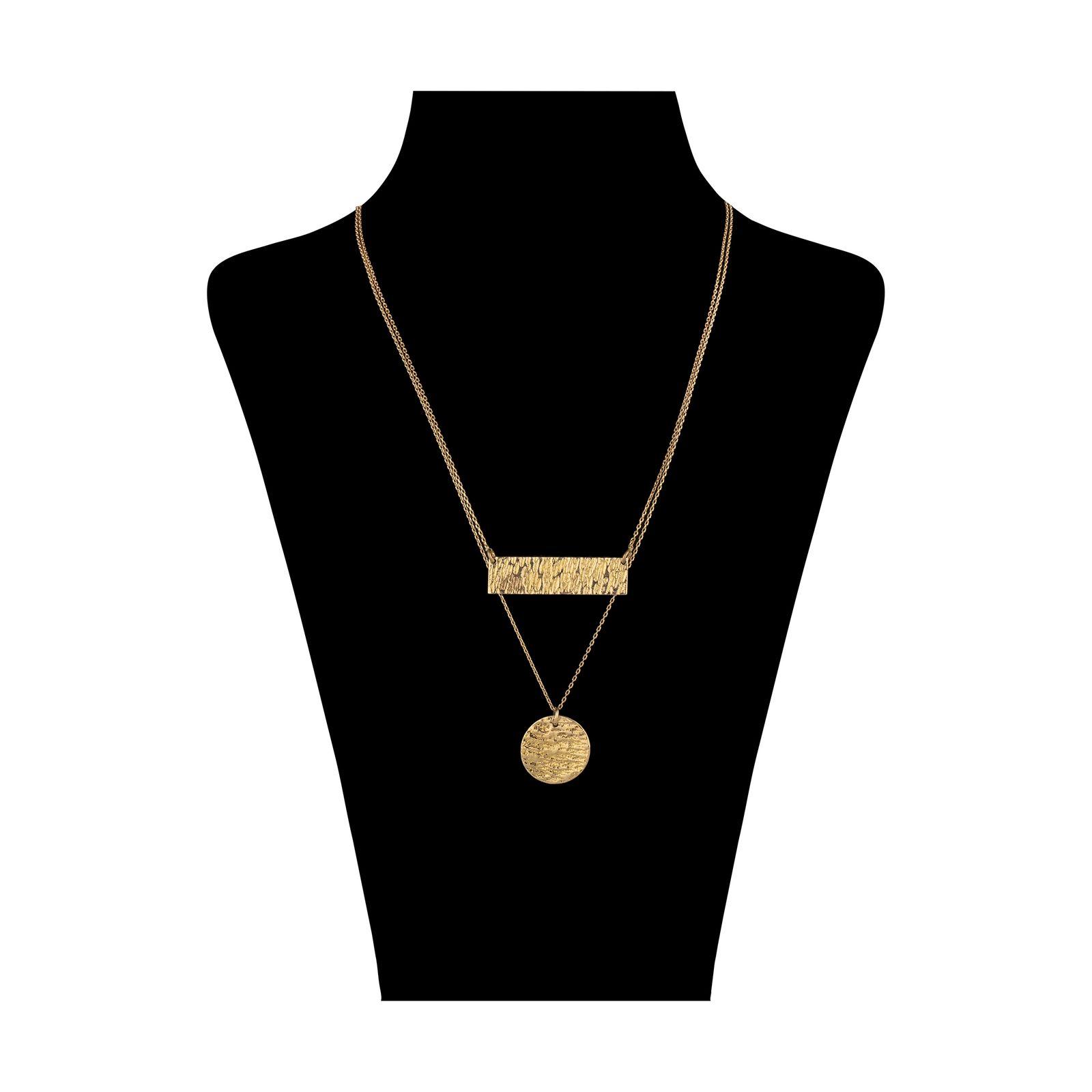 گردنبند طلا 18 عیار زنانه سنجاق مدل X077574 -  - 1
