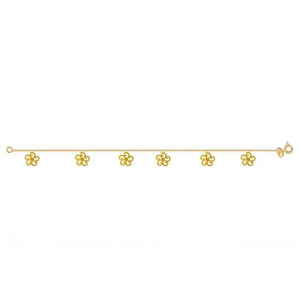 پابند طلا 18 عیار نازنین کد GR226