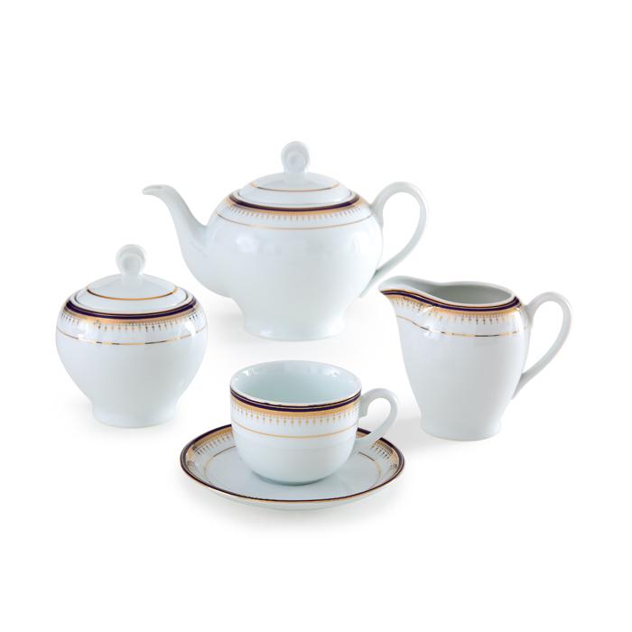 عکس سرویس چینی17پارچه چای خوری چینی زرین ایران سری ایتالیا اف مدل خاطره درجه عالی