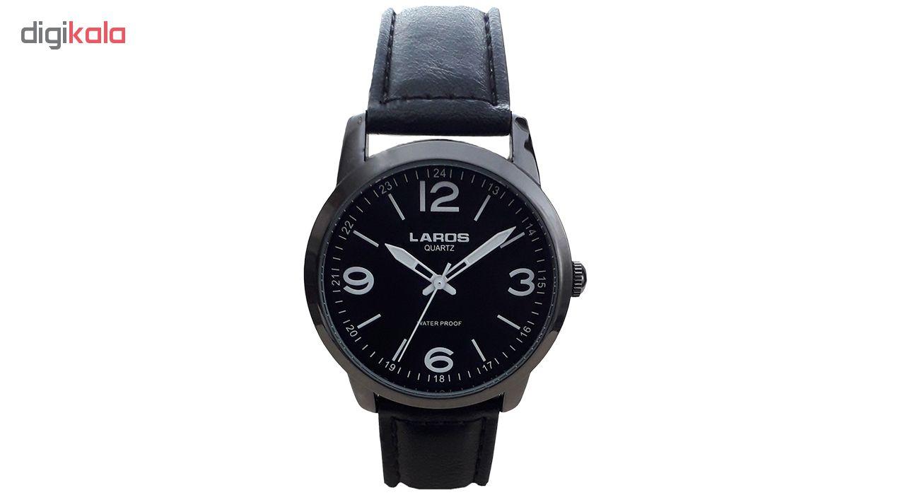 خرید ساعت مچی عقربه ای مردانه لاروس مدل  80153S black