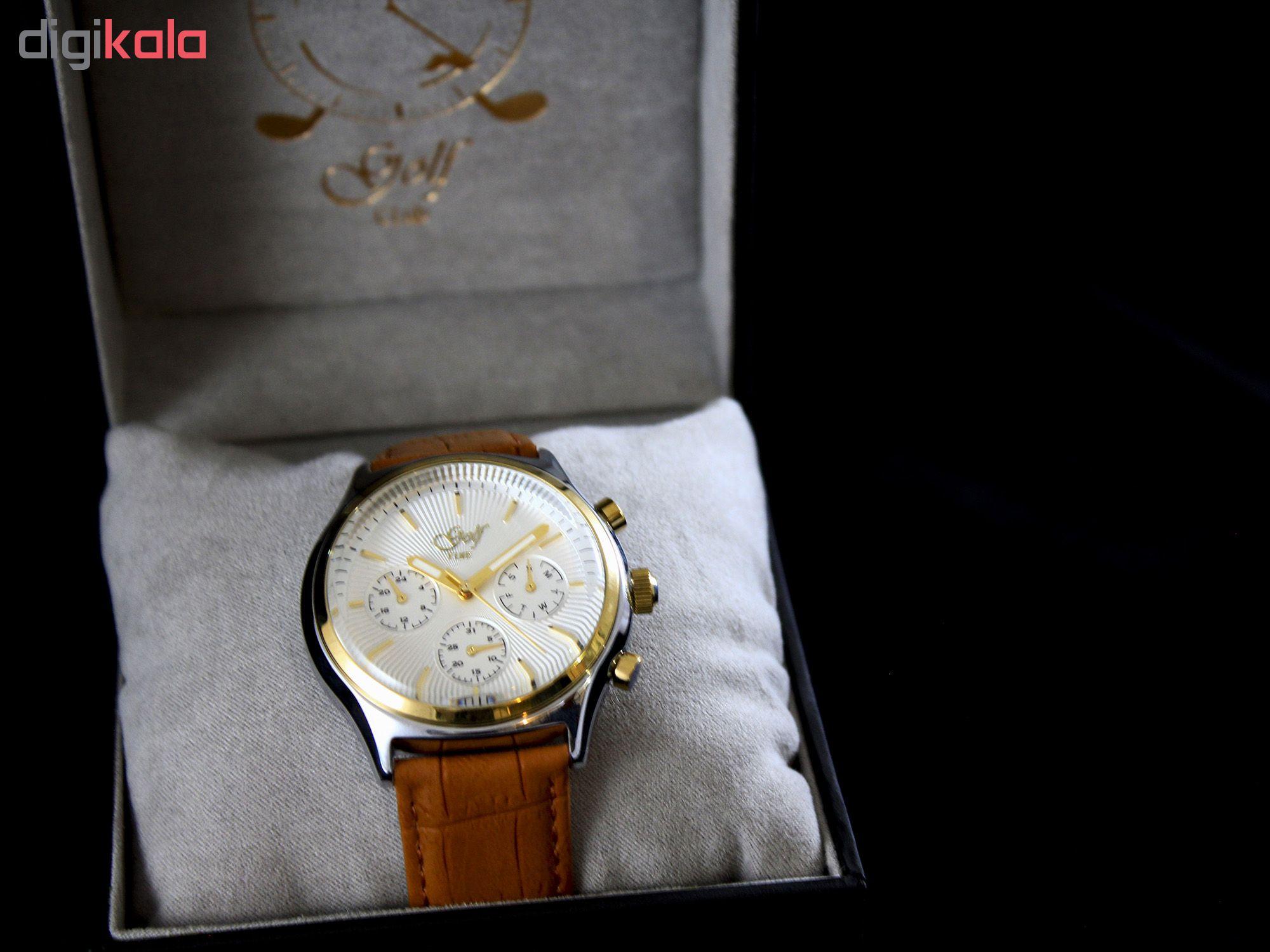 ساعت مچی عقربه ای  مردانه  گلف مدل 5-0219