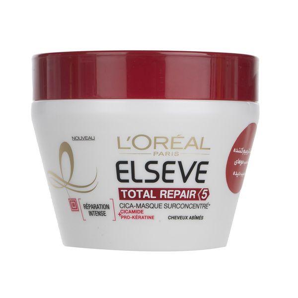 ماسک موی ترمیم کننده لورآل Elseve مدل Total Repair 5حجم 300 میلی لیتر