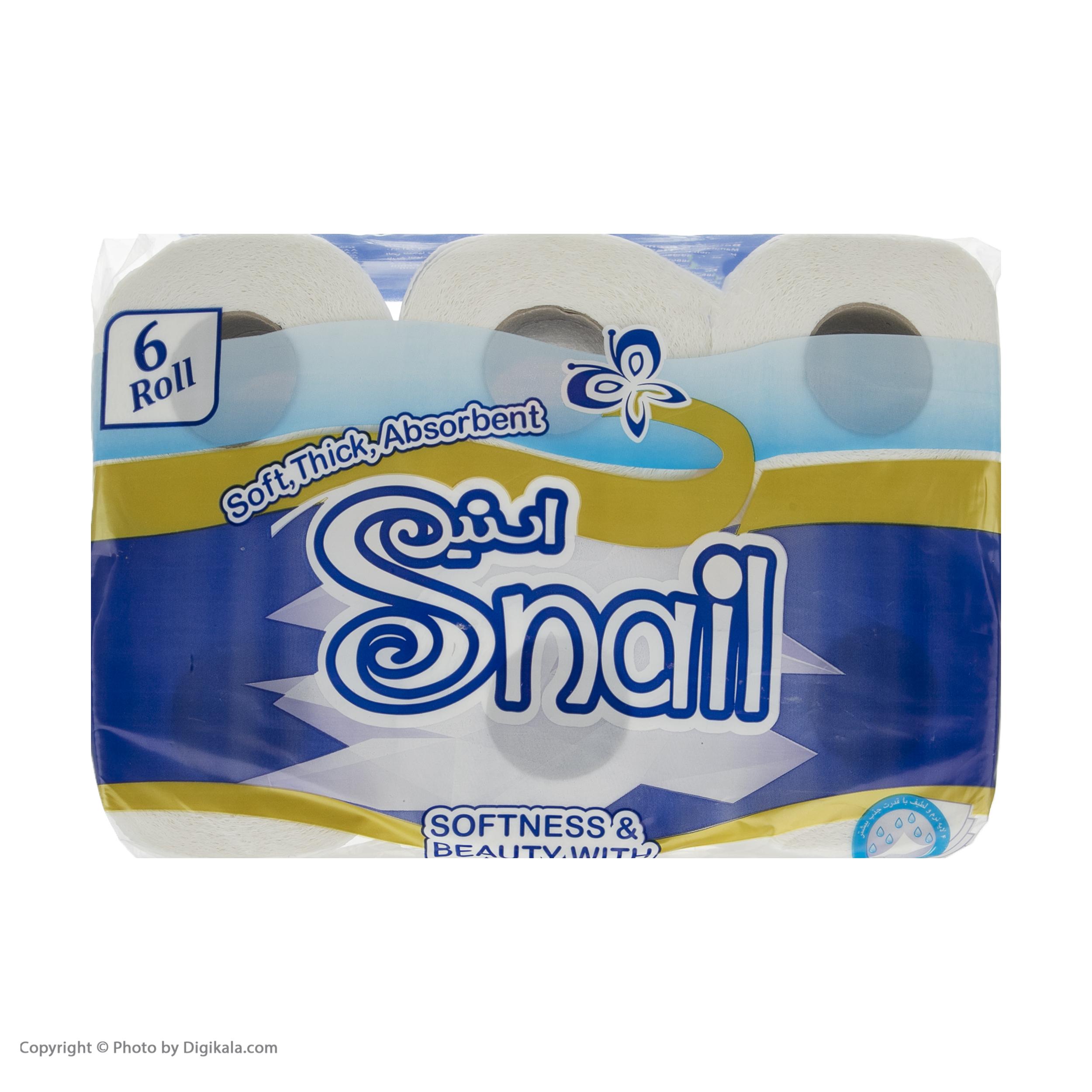 دستمال توالت اسنیل کد 01  بسته 6 عددی   main 1 1