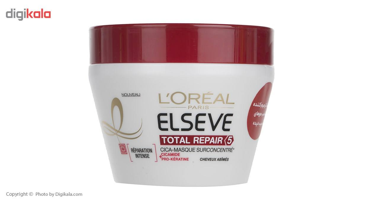 ماسک موی ترمیم کننده لورآل Elseve مدل Total Repair 5حجم 300 میلی لیتر main 1 1