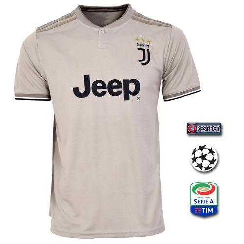 پیراهن ورزشی طرح یوونتوس مدل Away18/19 به همراه تگ